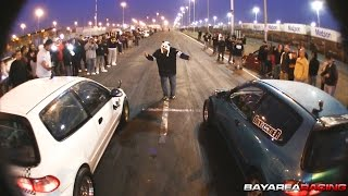 Down&Out B Series Civic vs OOO K Series Civic