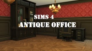 Sims 4 Building - Antique Office (Part 2)