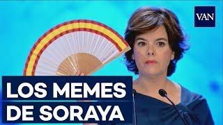 Los MEMES de Soraya  y el abanico en el Congreso del PP