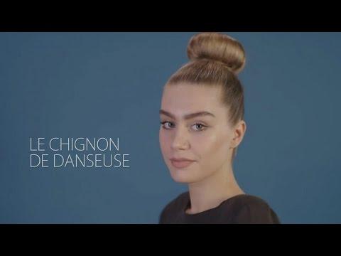 Le chignon danseuse - Tuto coiffure - YouTube