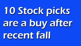Top 10 expert  Stock picks are a buy after recent fall