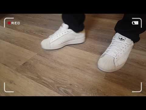 Adidas Superstar Custom Restore White On Feet.