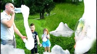 ГЕНЕРАТОР ПЕНЫ Своими Руками Как сделать / Опыты для детей KIDS Children