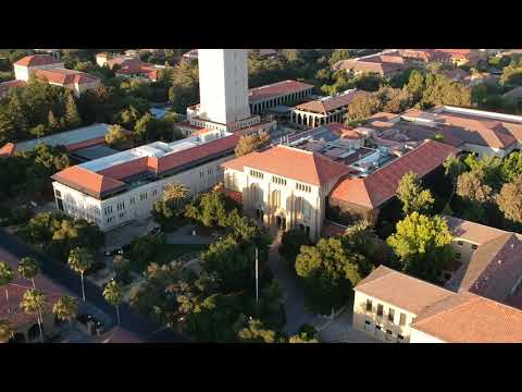 Stanford Campus Drone Fly