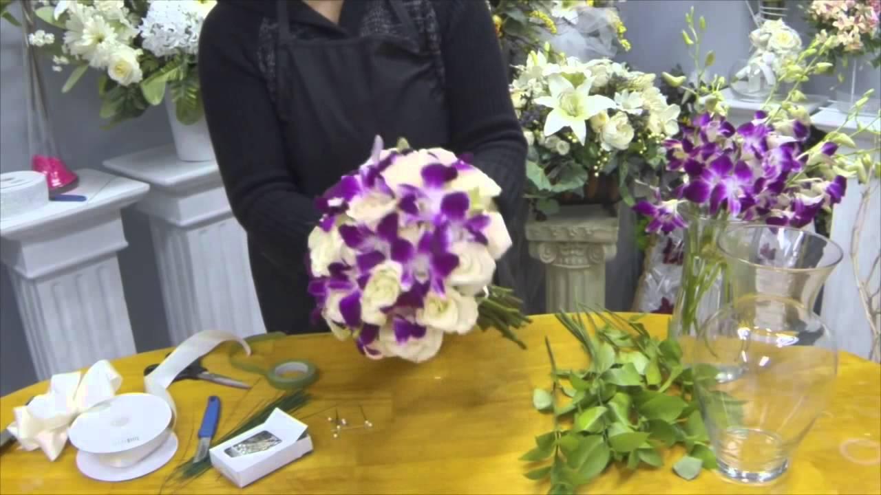 Как сделать букет из гербер