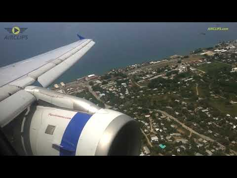 Exotic Solomon Islands! Solomon Airlines A320 Honiara Landing from Brisbane!  [AirClips]
