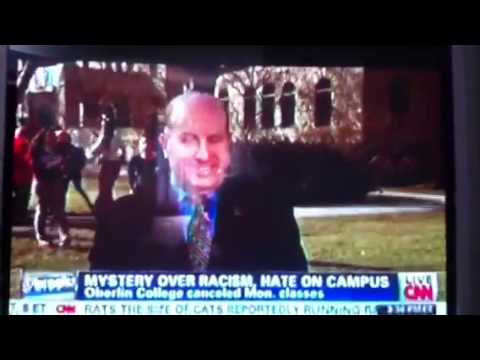 Oberlin college pres. Interrupted on CNN by protesters yell