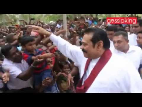 The rings came down with the rear Mahinda little son (Video)