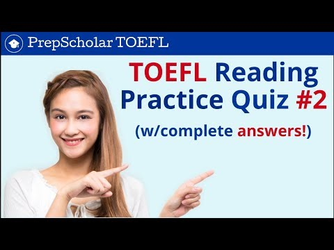TOEFL Reading Practice Quiz #2 | Complete Answers Included