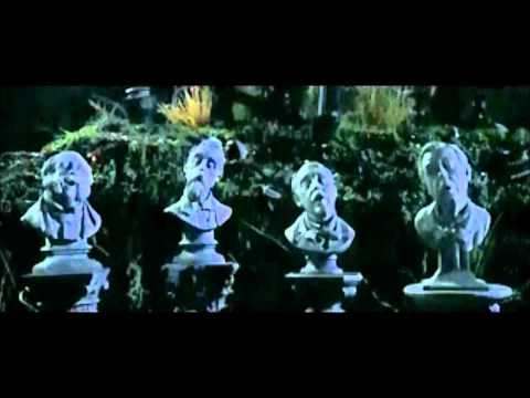 the haunted mansion (2003) - singing busts appear, grim grinning ghosts