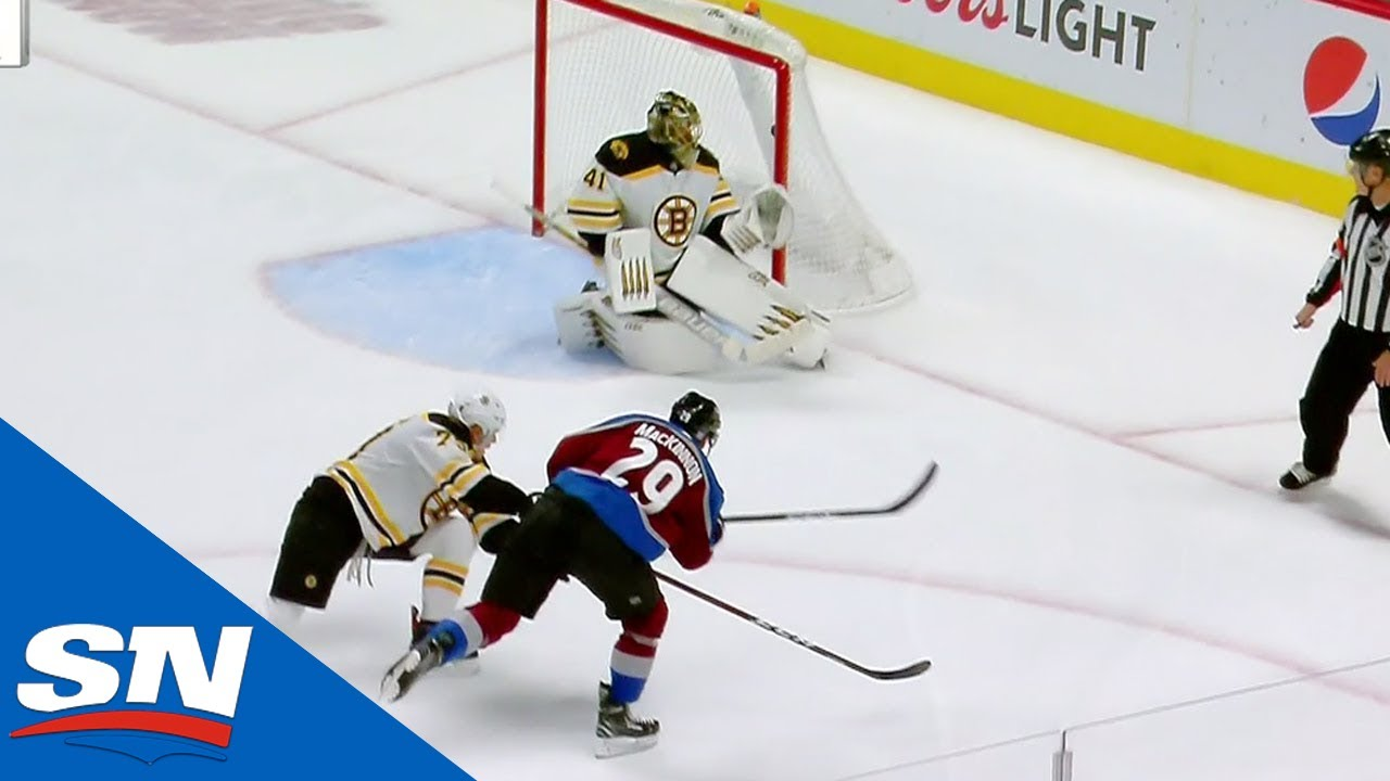 3a379f1eaa3 Mikko Rantanen Breaks Through Bruins and Finds MacKinnon for Game Winner