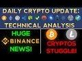 HUGE Binance News! But Cryptos Still Struggle To Move Higher!?