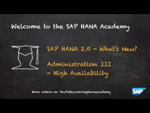 [2.0 SPS 01] SAP HANA What's New? ALM - SAP HANA Academy