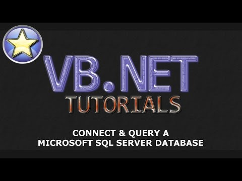 VB.NET Tutorial - Connect & Query a Microsoft SQL Server Database - Part 1