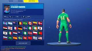 different soccer skin flag variants | Fortnite Battle Royale Season 4
