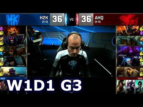 H2K vs AHQ - Week 1 Day 1 | Group C LoL S6 World Championship 2016 W1D1 | H2K Gaming vs ahq