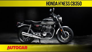 Honda H'ness CB350 - Retro cool Honda rival to the RE Classic 350 & Jawa | First Look| Autocar India