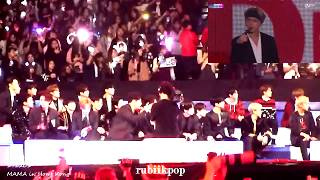 171201 Exo +  GOT7, Wanna One, NCT 127 Reaction to BTS (FULL) performance @ MAMA