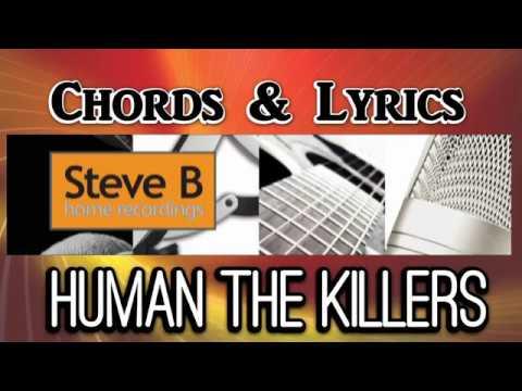 Human - The Killers  - Guitar  Chords & Lyrics Cover- By Steve.B Lesson