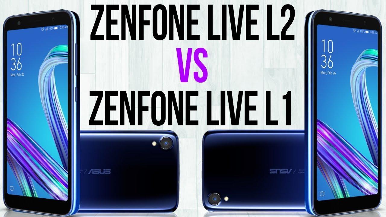 Zenfone Live L2 vs Zenfone Live L1 comparison