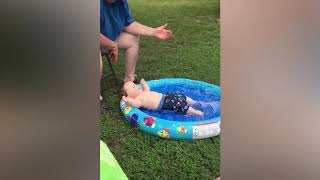 Funny Baby Positions When Playing With Water   montage Laughter Non Stop # 133