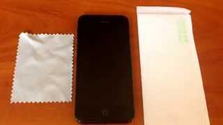 Поклейка защитного стекла на iPhone 5(, 2015-09-01T09:48:12.000Z)