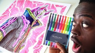 USING $2 BALLPOINT PEN - DRIFT DRAWING | FORTNITE SKIN | REVIEW