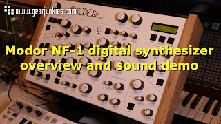 Modor NF 1 digital synthesizer overview and sound demo