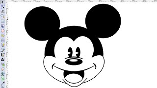 Inkscape Tutorial - How To Draw Mickey Mouse Face