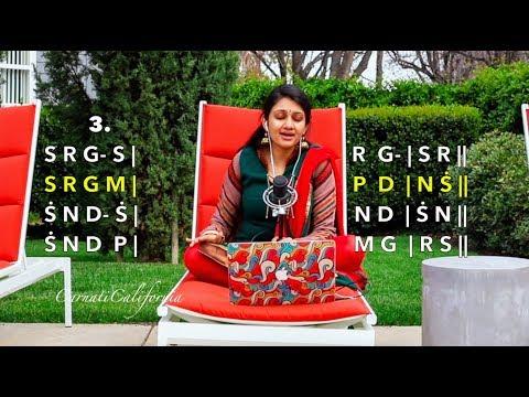 Carnatic Music Tutorial - Sarali Varisai 1 to 7 | Learn to Sing | Beginner | Part 2