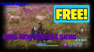 NEW RAVAGE SKIN GAMEPLAY IN FORTNITE BATTLE ROYALE. Fortnite cos why not?
