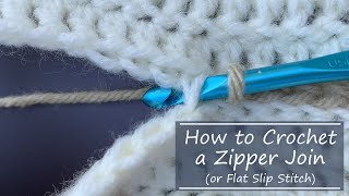 Crochet Slip Stitch or Zipper Join