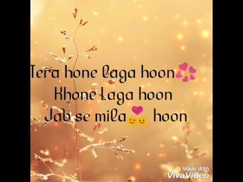 Tera Hone Laga Hu/Ajab Prem Ki Gazab Kahani/lyrical/Shining in the shade in sun