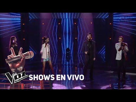 """Amorina, Braulio, Lucas y Juliana cantan """"Un poco loco"""" de Turf - La Voz Argentina 2018"""