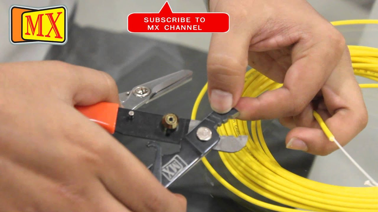 How to use Fiber Optic Cable Cutter Stripper before using it on the ...