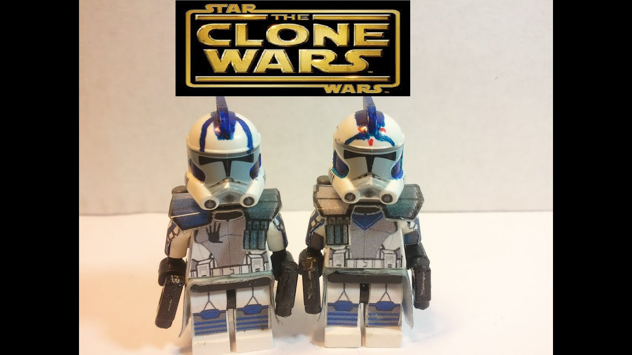 Echo /& Fives 501st Lego Star Wars minifigures Clone Custom Troopers