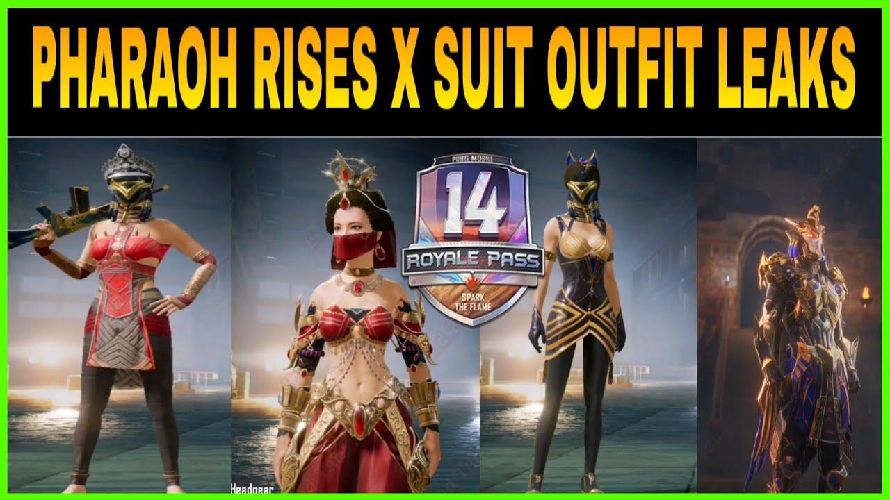 Pharaoh Rises X Suit Outfit Princess Set Upgradable Gun Skins In Pubg Mobile Youtube