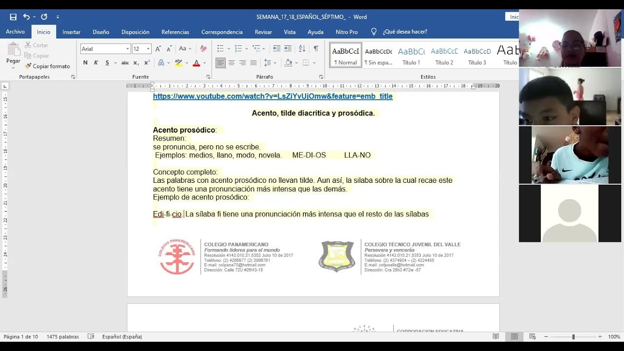 9/06/2021 SÉPTIMO, ESPAÑOL; SEMANA 17: RETROALIMENTACIÓN 1 PARTE.