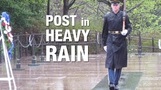Tomb Guards ● Post in Rain at Arlington Cemetery