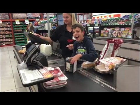 Thumbnail: Cashier Makes Boy With Cerebral Palsy's Day When She Has Him Scan Groceries