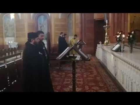 Утренняя служба в Армянской Апостольской Церкви г. Москвы