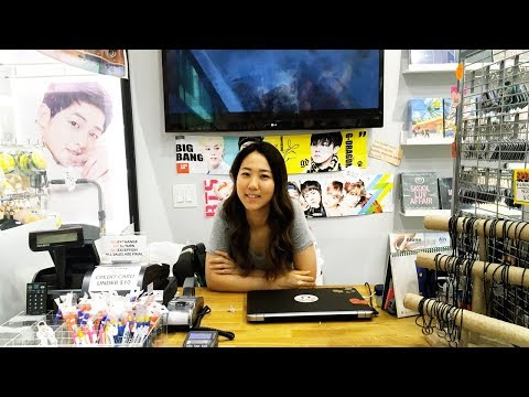 Owner Leah interviews with TokkiTV at Eve Pink ll Kpop Album & Merchandise Store
