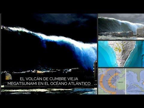 El volcán de Cumbre Vieja podria generar Un megatsunami en el océano Atlántico