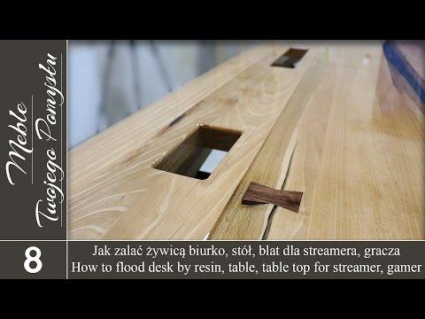 Jak zalać żywicą biurko, stół, blat dla streamera, gracza / How to flood epoxy desk, table