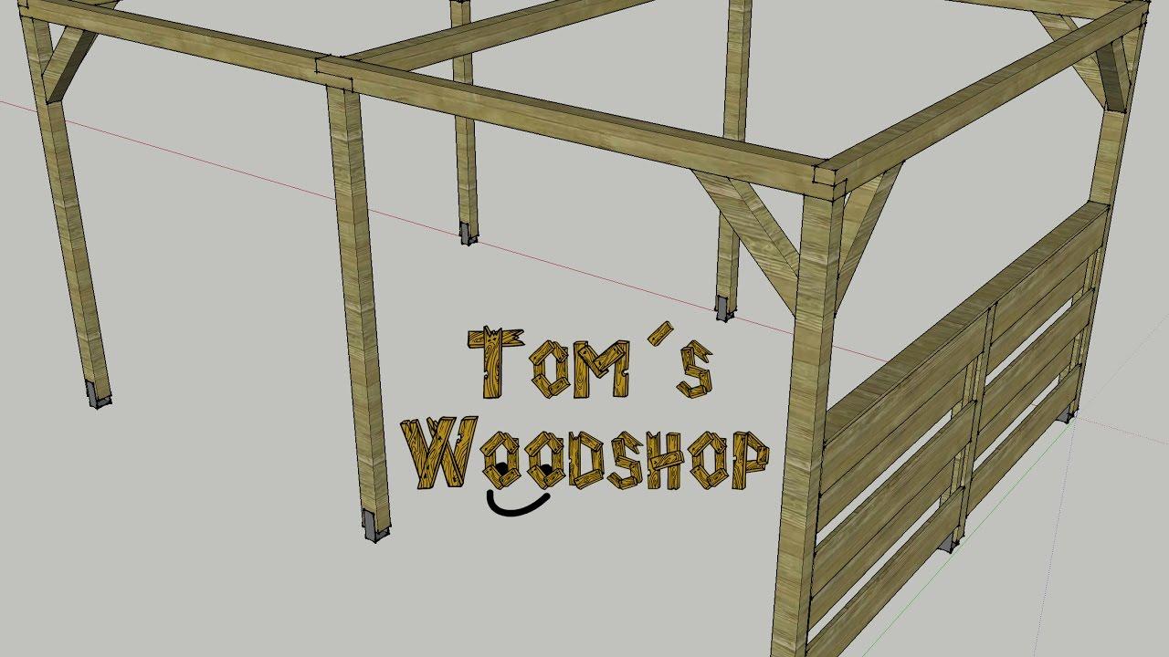 tom s woodshop pergola selber bauen teil 1 die fertigung youtube. Black Bedroom Furniture Sets. Home Design Ideas