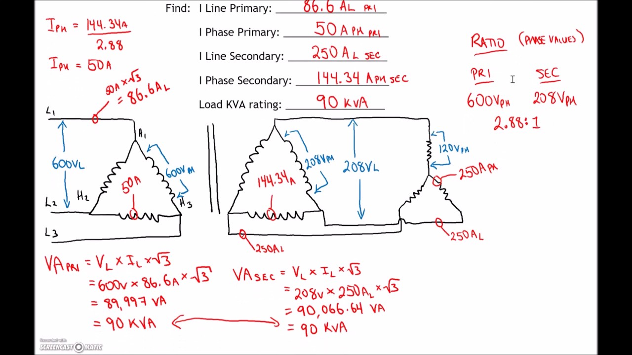 3 Phase Transformer Test  2 Review  Part 4