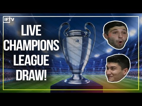 UEFA CHAMPIONS LEAGUE LIVE DRAW REACTION!