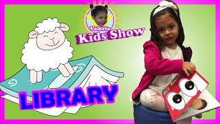FUN Kids PLAY and LEARN at the LIBRARY and  NURSERY RHYMES Songs for Children