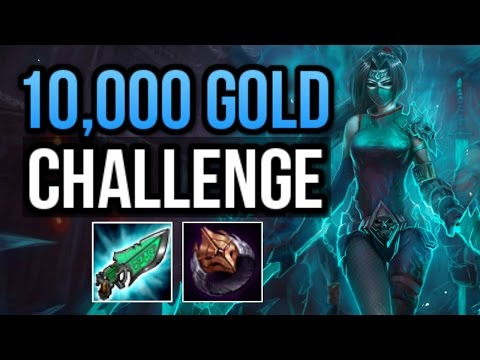 10K GOLD WITHOUT RECALLING CHALLENGE (AKALI RANKED CHALLENGE) | League of Legends