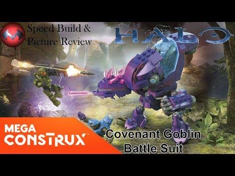 Halo - Covenant Goblin Battle Suit - Mega Construx Speed Build and Picture Review
